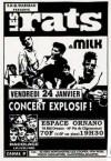 """24 janvier 1994 (?) les Rats, Milk à Paris """"Espace Ornano"""""""