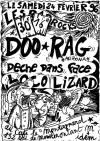 """24 fevrier 1996 Doo Rag, Deche Dans Face, Loco Lizard à Paris """"Montagnard"""""""