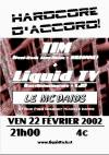 "22 février 2002 Tim, Liquid TV au Havre ""McDaids"""