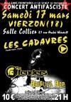 """17 mars 2012 les Cadavres, The Offenders, Brigitte Bop à Vierzon """"Salle Collier"""""""