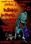 "2 mars 2013 les Punaises, les Rivals, Bulgarian Yogurt, Midnight Rovers à Montreuil ""Chinois"""
