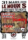 """31 mars 2018 Carton Rouge, Kurt, Motor Riot, Taixs à Siradan """"le Moun's"""""""