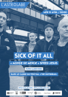 "10 avril 2019 Sick Of It All, Monde de Merde, Speed Jesus à Orléans ""Astrolabe"""