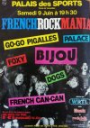 "9 juin 1979 Bijou, Go-go Pigalles, Palace, Foxy, Dogs, French Can-Can à Paris ""Palais des Sports"""