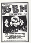 """26 juin 1993 GBH à Pontoise """"Petit Theatre de Louvrais"""""""