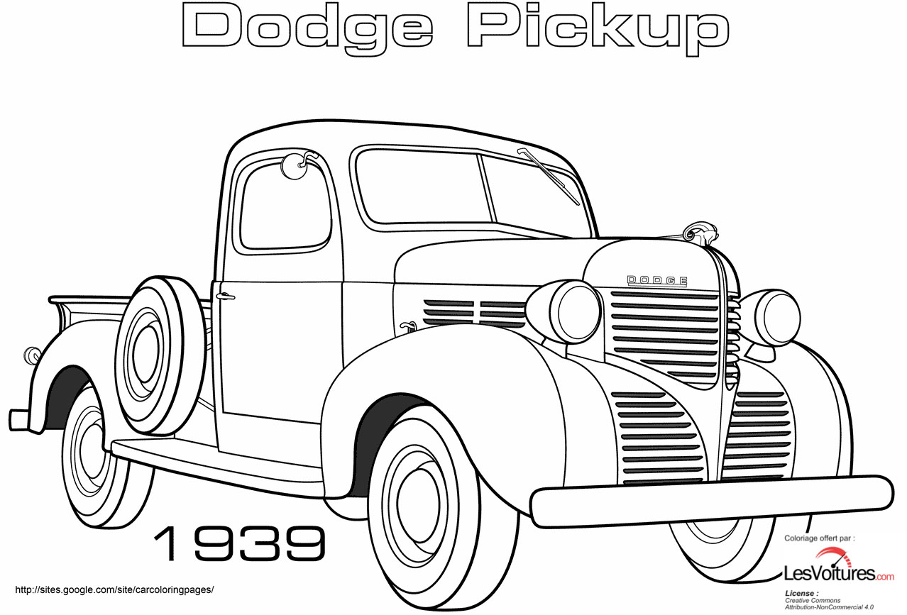 Dodge Pickup Coloriage Voiture
