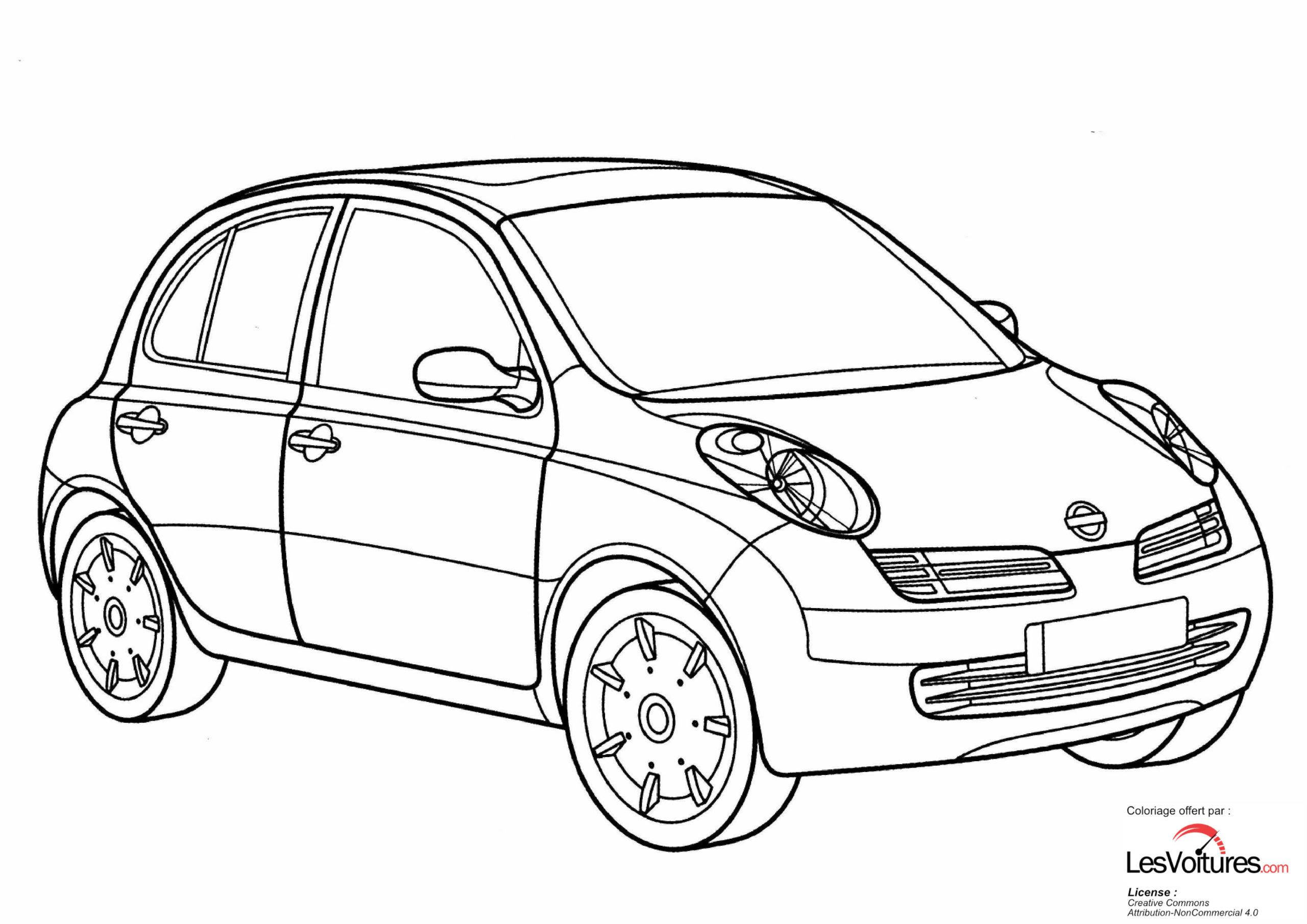 Nissan Micra Coloriage Voiture