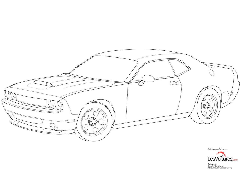 Dodge Challenger Coloriage Voiture