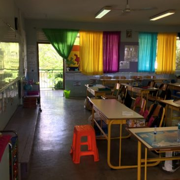 Une salle de classe STTP (Papeete-Tahiti)