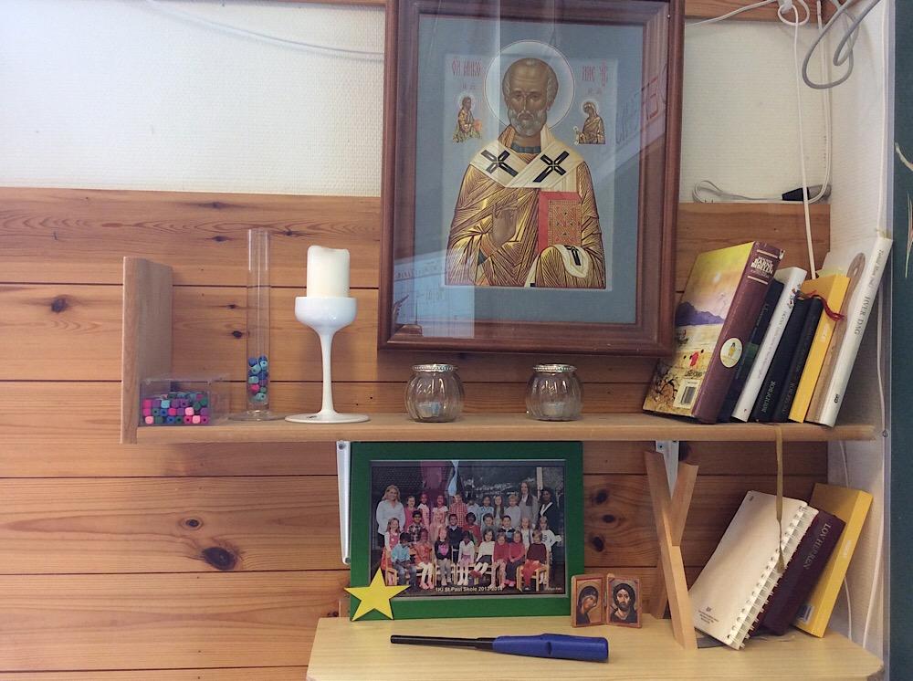 À Saint Paul, le coin prière