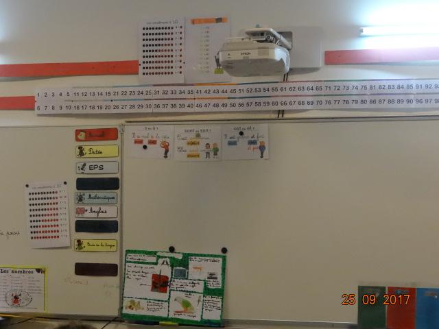 Video projecteur dans les salles de classes de l'école Prévert à Saly (Sénégal)