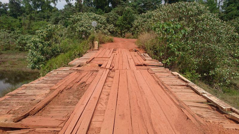 Un pont du chemin entre Koh Kong et Battambang