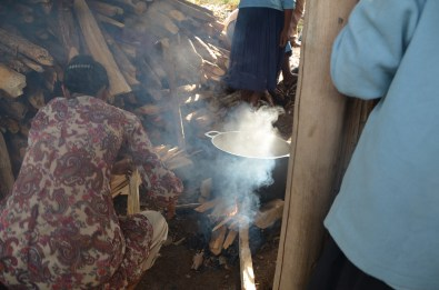 Là on se rend compte de ce que prenne les femmes dans le nez quand elles cuisinent.. Et nous étions en semi-exterieur