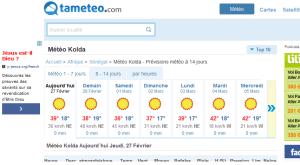 météo Kolda