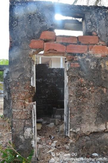 L'ancienne prison des esclaves: la cellule de l'un d'eux.
