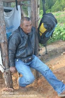 Dominique, il est chargé de faire les devis lors des constructions du centre