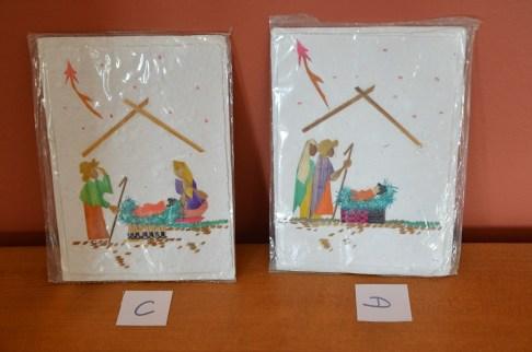 Cartes crèche de Noël