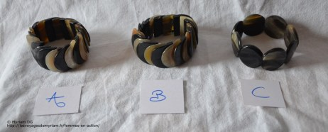 bracelet en corne de zébu, 6€