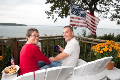 Myriam et Luc à Sea Cliff - Long Island (New York)