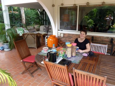 Petit déjeuner à la résidence du village Thaï - Bangkok
