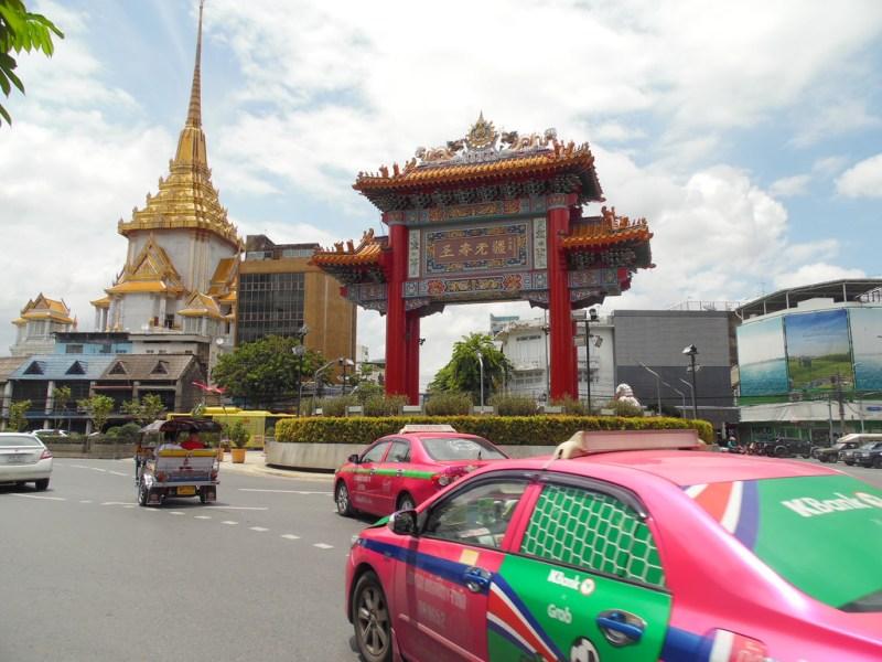 Porte du quartier chinois de Bangkok