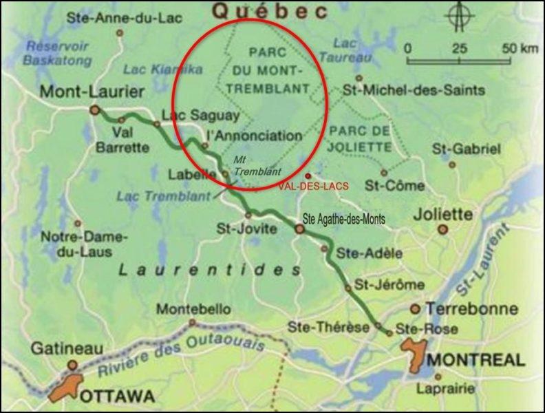 Le parc national du Mont Tremblant - Québec