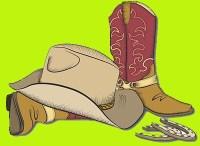 bottes et chapeau