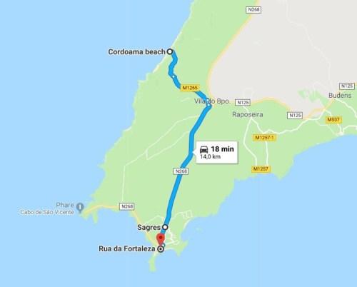 Itinéraire : Cordoama - Sagres