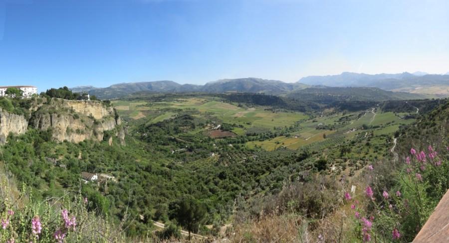 Vue sur la plaine depuis Ronda
