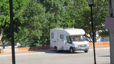 Notre CC sur l'aire de camping-car