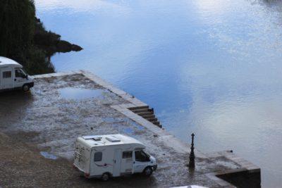 Notre camping-car au bord du Guadiana