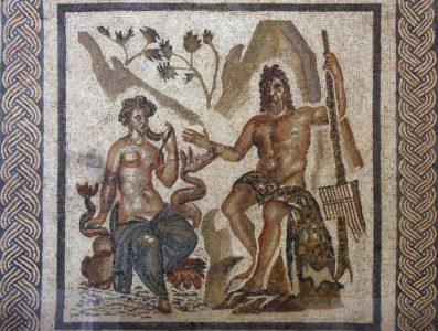 Mosaique de Polyphème et Galatée