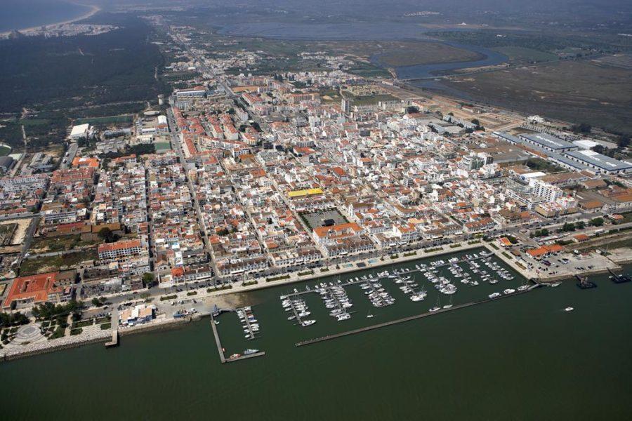 Vue aérienne de Vila Real de Santo Antonio