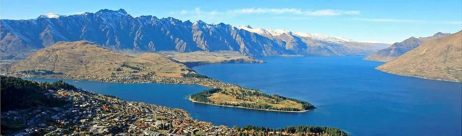 Queenstown et le lac Wakatipu (île du Sud)