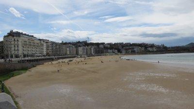 St Sébastien - la plage de la Concha