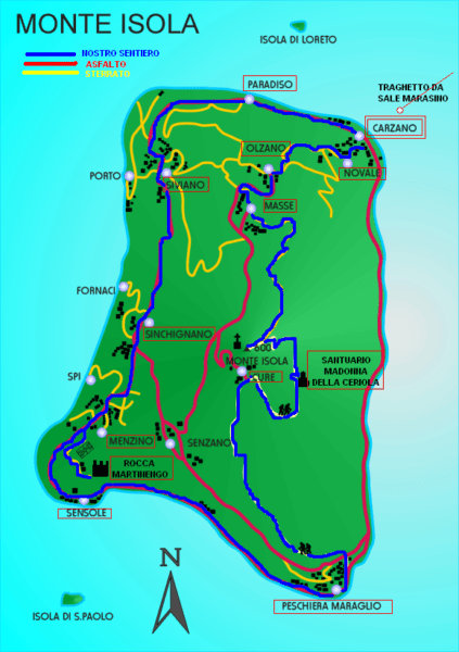 Carte de Monte Isola