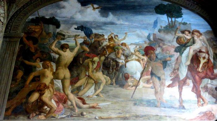 Villa Carlotta - tableau de l'entrée d'Alexandre 1er à Babylone