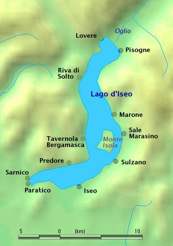 Le lac Iseo
