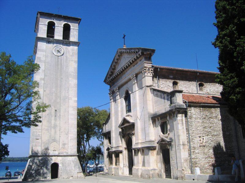 La cathédrale de Pula et son campanile