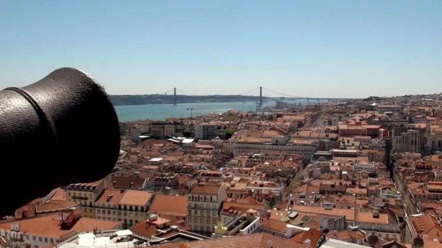 Vue sur Lisbonne et le pont du 25 Avril