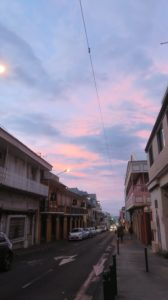 La tombée du jour à St Denis (Réunion)