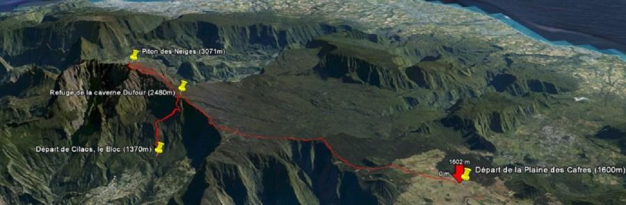 Le Piton des Neiges (3071m) - île deLa Réunion
