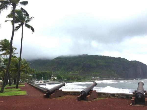 Les canons au Barachois - St Denis (Réunion)