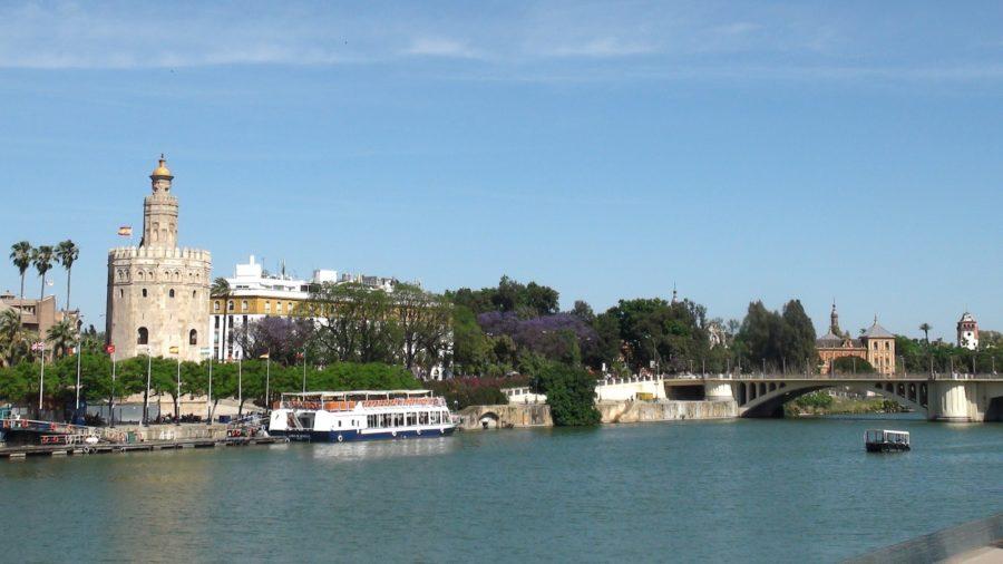 Séville -Le canal et la Tour de l'Or