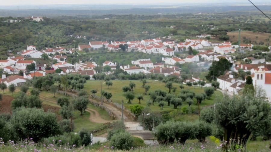 Le village d'Evoramonte depuis la forteresse