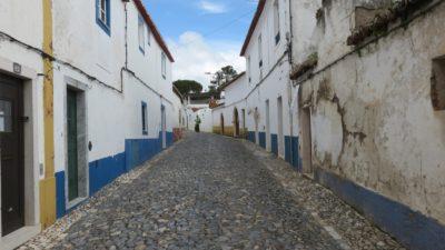 Les rues pavées de Vila Viçosa