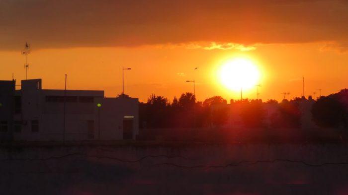 Coucher de soleil sur Castro Marim
