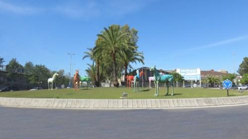 Le rond point des Caballos - Jerez de la Frontera