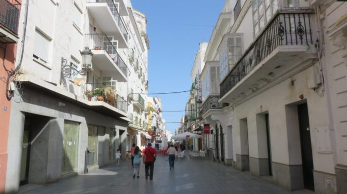 Les rues piétonnes d'El Puerto de Santa Maria