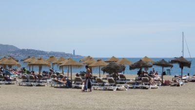 La plage de Malaga